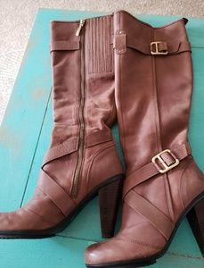 DKNY Raleigh Brown Leather Boots